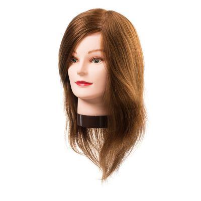 Eurostil Training Head Lucy,Natural Hair 20-30 CM