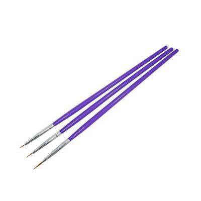 Nail art purple brush set
