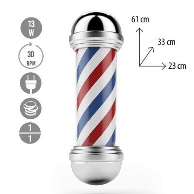 Eurostil Inox Barber Pole 04946