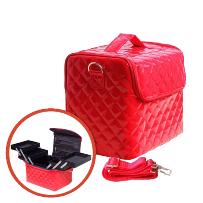 Red Suitcase glossy with handles