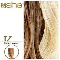 She Hair Extension (So.Cap) HEX8000L/Natural 55-60cm -No 14/1001 10τμχ