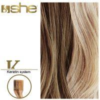 She Hair Extension (So.Cap) HEX8000L/Natural 55-60cm -No 18/24 10τμχ