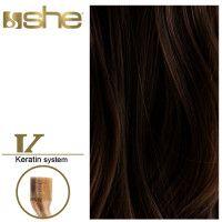 She Hair Extension (So.Cap) HEX8000L/Natural 55-60cm -No 2 10τμχ
