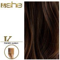 She Hair Extension (So.Cap) HEX8000L/Natural 55-60cm -No 4 10τμχ