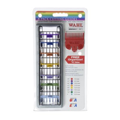 Wahl 8 Color Coded Cutting Guides with Organizer No3170-417