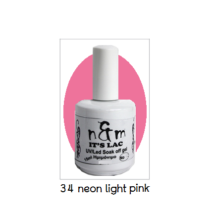 N&M 34-Νeon light pink 15ml