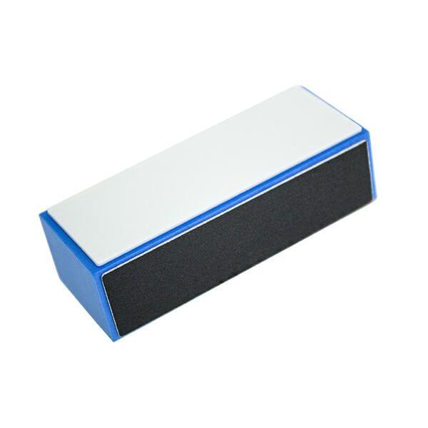 Buffer blue block, 4-sided, black-dark grey-white-grey