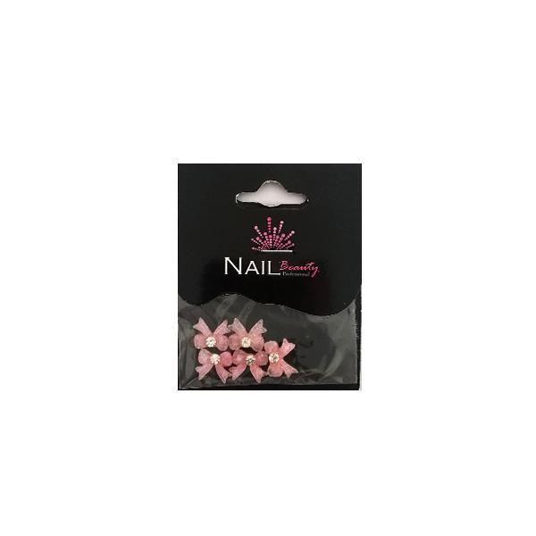 Φιογκάκια διακοσμήτικα ρόζ διάφανα