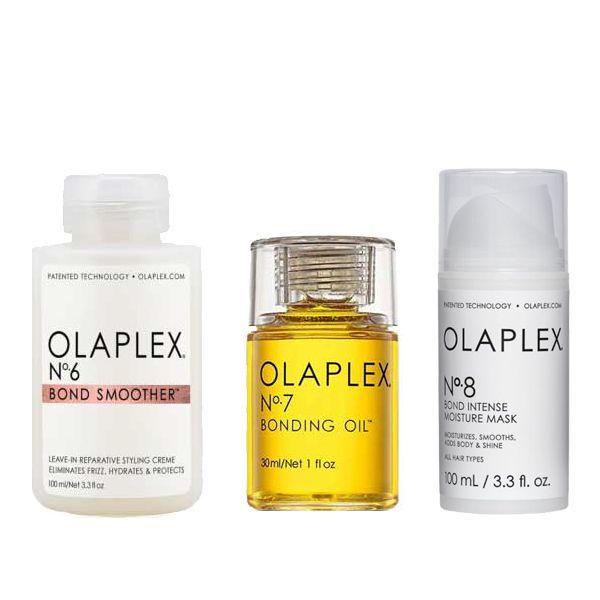 Olaplex Anti Frizz Hair Set (No.6 Bond Smoother 100ml, No.7 Bonding Oil 30ml, No.8 Bond Intense Moisture Mask 100ml)