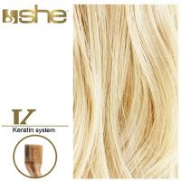 She Hair Extension (So.Cap) HEX8000L/Natural 55-60cm -No 1001 10τμχ extensions μαλλιών