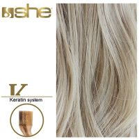 She Hair Extension (So.Cap) HEX8000L/Natural 55-60cm -No 101 10τμχ extensions μαλλιων
