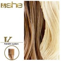 She Hair Extension (So.Cap) HEX8000L/Natural 55-60cm -No 14/1001 10τμχ extensions μαλλια