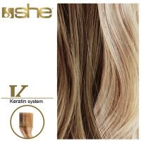 She Hair Extension (So.Cap) HEX8000L/Natural 55-60cm -No 18/24 10τμχ extensions μαλλιων